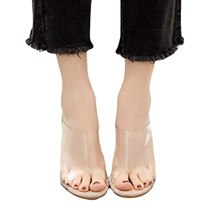 20a60fe71 Amazon.com  YKARITIANNA Women Fashion Transparent Sandals