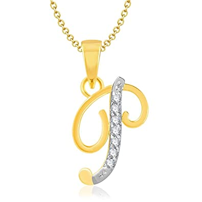 P Letter Images.Vk Alphabet Collection Initial Letter P Gold And Rhodium Plated Alloy Pendant For Men Women P1109g Vkp1109g