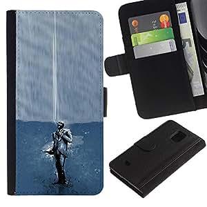 KLONGSHOP // Tirón de la caja Cartera de cuero con ranuras para tarjetas - Fumar Juego Spy Tf2 Tf - Samsung Galaxy S5 Mini, SM-G800 //