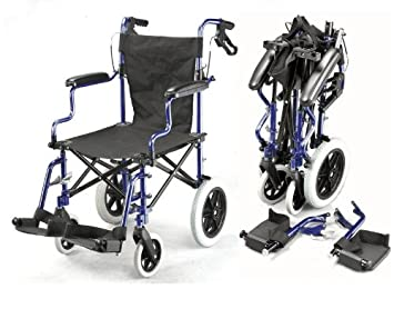 Amazon.com: Ligero Deluxe plegable transporte silla de ...