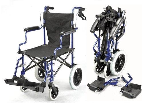 35 opinioni per Pieghevole leggero borsa ina viaggio sedia a rotelle con freni ECTR04