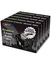 BCW Graded Comic Book Bin for Comic Book Storage - 5-PACK with Kinara Keychain