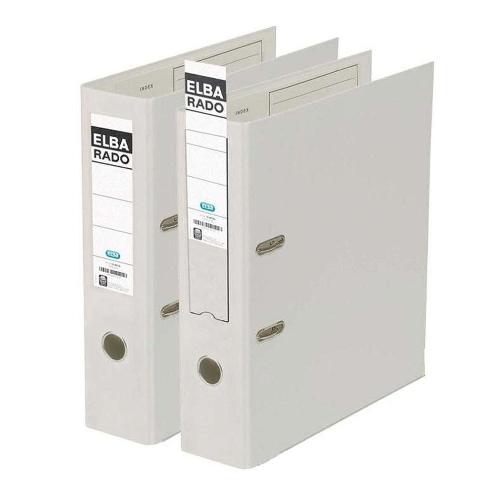 Elba Rado Plast - Archivador palanca en PVC, A4, color blanco: Amazon.es: Oficina y papelería