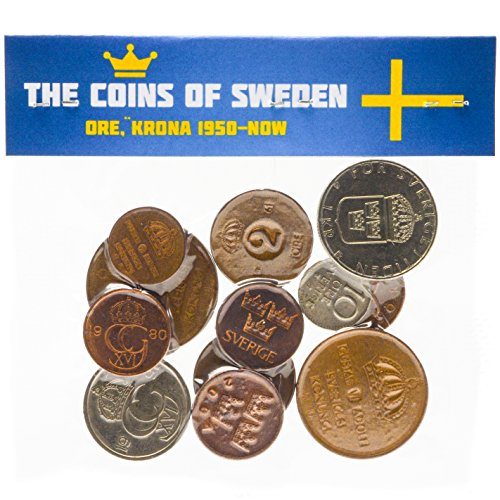 Krona Coin - Mixed Lot of Sweden Coins Swedish Ore Krona Kronor 1950-Present (15)