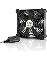 AC Infinity MULTIFAN S3, Quiet 120mm USB Fan, UL-Certified for Receiver DVR Playstation Xbox Computer Cabinet Cooling