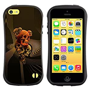 Be-Star Colorful Printed Design Anti-Shock Iface First Class Tpu Case Bumper Cover For Apple iPhone 5C ( skull gold red death abstract vortex ) Kimberly Kurzendoerfer
