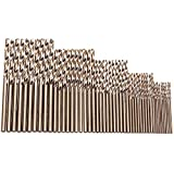 Migiwata Metric M35 Cobalt Steel Extremely Heat Resistant Twist Drill Bits with Straight Shank Set of 50pcs in 5 Sizes(1