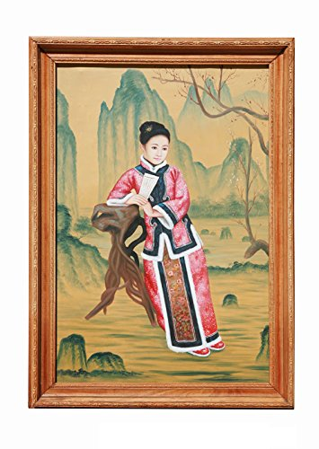 (Qianlong Period Chinese Lady Portrait Oil Painting AS1909)