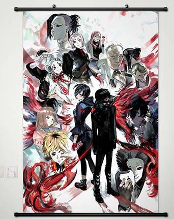 Amazon.com: Anime Tokyo Ghoul Home Decor Wall Scroll Poster Fabric ...