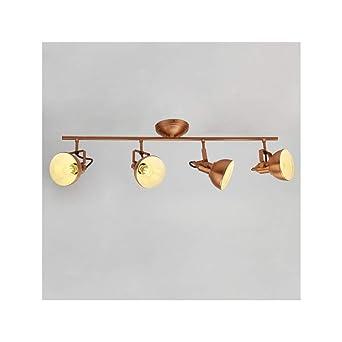 Lustre de techo cuatro lámparas Retro Bronce - rosario ...