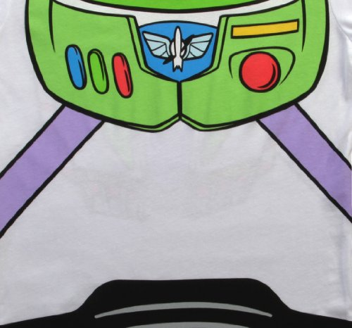 Toy Story Buzz Lightyear Juniors Astronaut Costume White T-shirt (Juniors X-Large) by Toy Story (Image #2)
