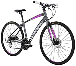 Diamondback Bicycles Women's 2016 Clarity 2 Complete Performance Hybrid Bike, 16 Inch Frame 16 Grey/Pink