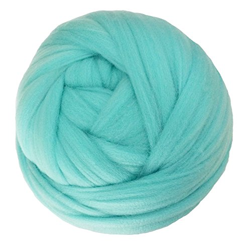 Zituop Super Soft Chunky Yarn Bulky Roving for Arm Knitting Blanket, 1.1lb (Mint) -