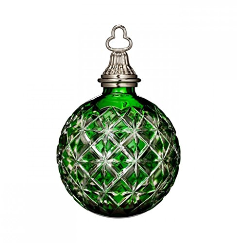 Waterford 2014 Annual 3-in Crystal Ball Ornament, Emerald Green