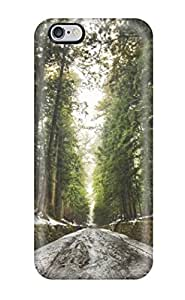 Iphone Cover Case - Old Forest After Snow Melt Digital Protective Case Compatibel With Iphone 6 Plus