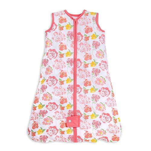 Burts Bees Baby Baby Beekeeper Wearable Blanket, 100% Organic Cotton, Swaddle Transition Sleeping Bag, Rosy Spring, Medium