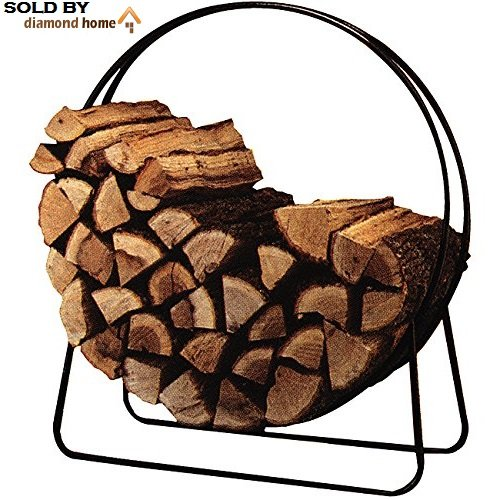 "40"" Traditional Circular Firewood Rack Indoor Classic, Round"