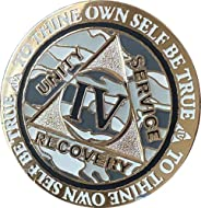 4 Year AA Medallion Reflex Winter Camo Silver Plated Camouflage Color Chip