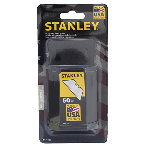 Stanley 11-921L 50-Pack Heavy Duty Utility Blades with Dispenser