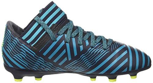 adidas Kinder Nemeziz 17.3 FG J Fußballschuh Legend Ink / Solar Gelb / Energy Blue