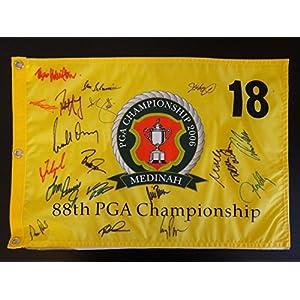19 PLAYER SIGNED AUTO 2006 PGA CHAMPIONSHIP FLAG AUTOGRAPH ADAM SCOTT MIKE WEIR