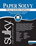 Sulky 409-02 Paper Solvy Water Soluble Fabric Stabilizer, 8-1/2 by 11-Inch, 12 Per Package (Limited Edition)
