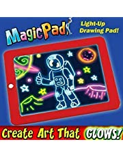 CHOUREN Magic PAD CREATE Drawing Lights Painting Graffiti Doodle Children Board Pad,Color:Blue (Color : Red)