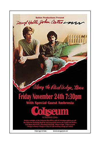(Raw Sugar Art Studio Hall and Oates 1978 Cleveland Concert Poster)