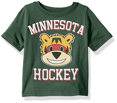 - Outerstuff NHL Minnesota Wild Children Unisex Hello Mascot Short Sleeve Tee, 12 Months, Hunter