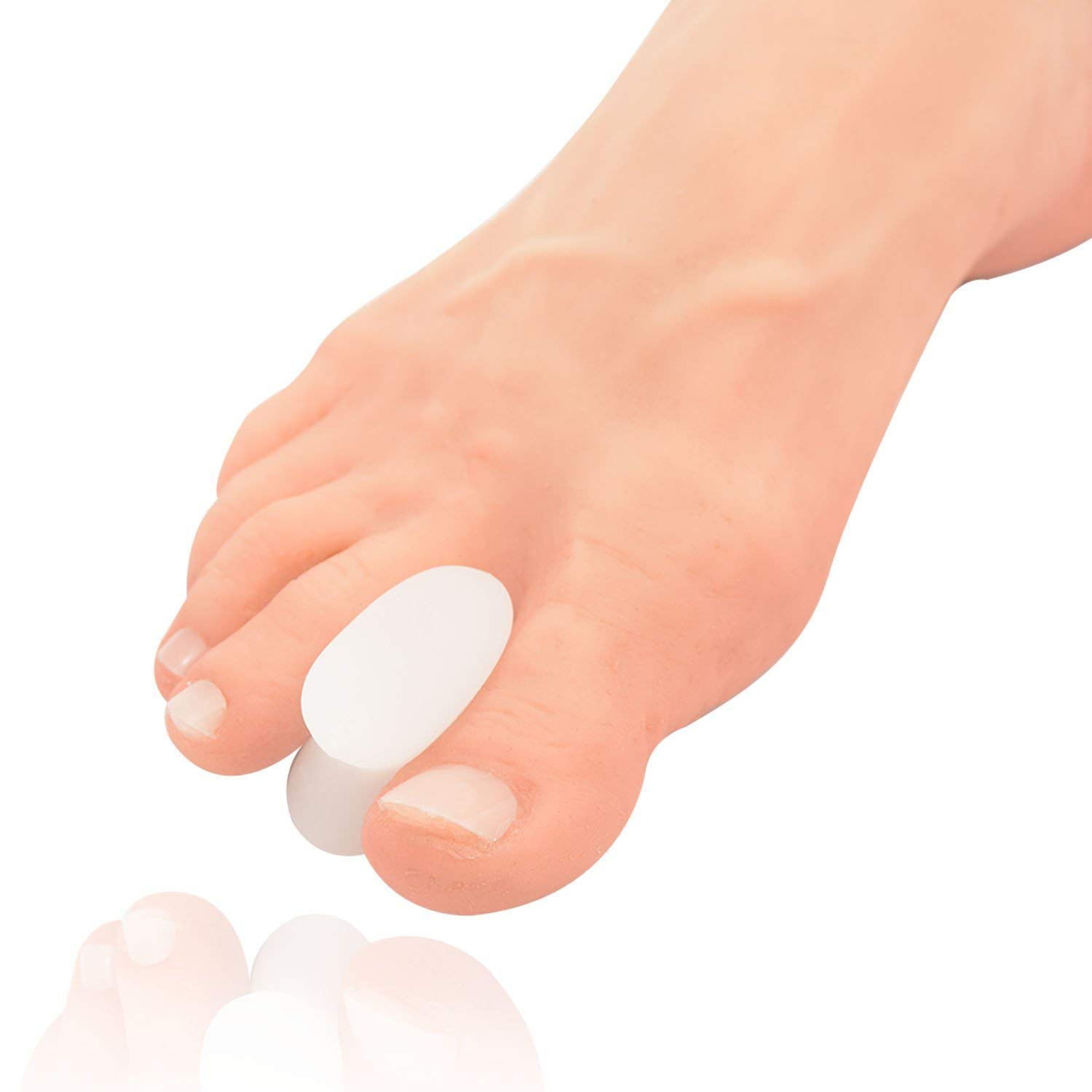 Dr. Frederick's Original Gel Toe Separators - 6 Pieces - Variety Pack - Bunion Treatment - Small, Medium and Large Sizes