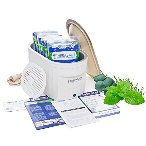 Therabath Professional Thermotherapy Paraffin Bath - Arthritis Treatment Relieves Muscle Stiffness - For Hands, Feet, Face and Body - 6lbs Eucalyptus Rosemary Mint paraffin ()