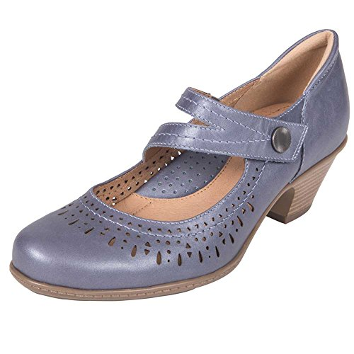 Women's Leather Earth Metallic Shoe Dione Navy Pearlized dxxwqvZ7