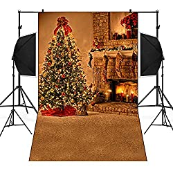 Dirance Christmas Theme Photo Backdrops 3x5ft, Photo Backgrounds for Photo Studio Weddings Party