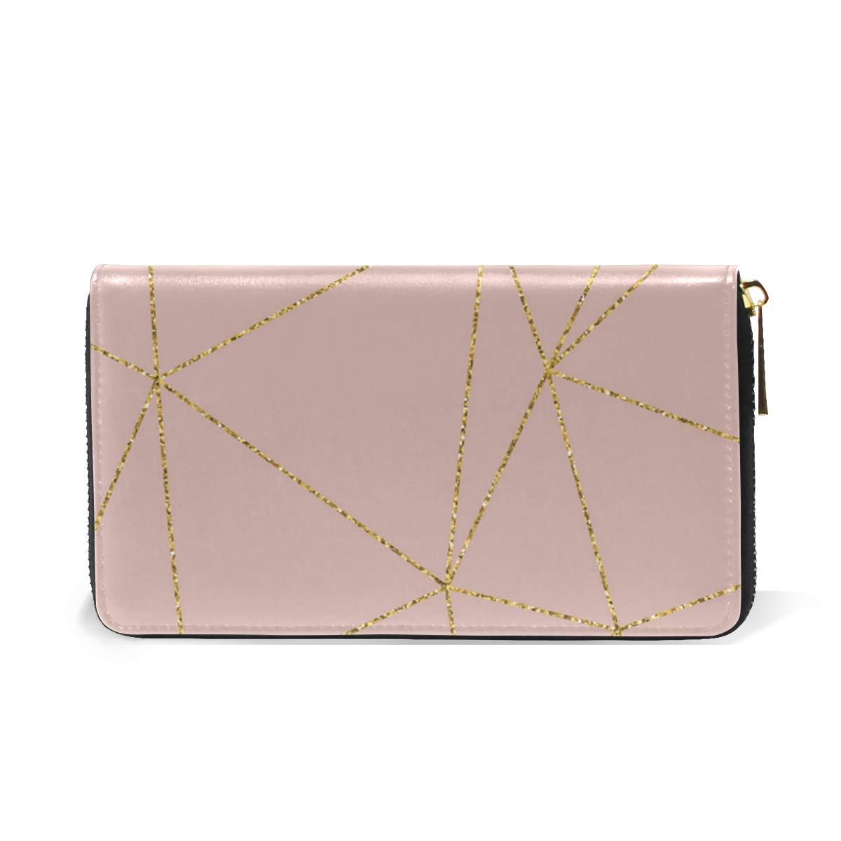 Rose Is Very Noble Real Leather Zip Around Wallet Wristlet minimalist wallet Travel Purse Wristlet