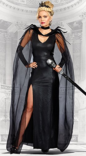 Dreamgirl Women's The Queen of Mean, Black, M