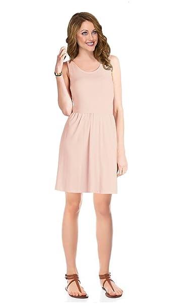 1f31cb9c09bc Women s Sleeveless Summer Short T-Shirt Tank Top Mini Basic Dress ...