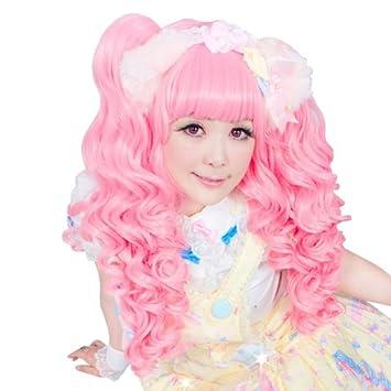 Amazon.com: Auténtica gótico lolita Pelucas Peluca® rosa ...