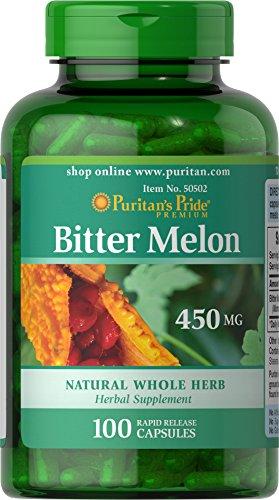 Puritan's Pride Bitter Melon 450 mg-100 Capsules ()