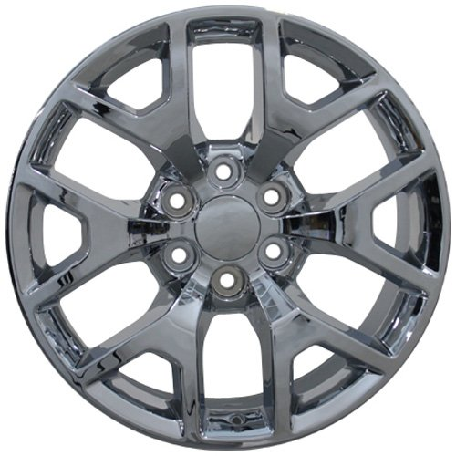 OE Wheels 20 Inch Fits Chevy Silverado Tahoe GMC Sierra Yukon Cadillac Escalade CV92 20x9 Rims Chrome SET