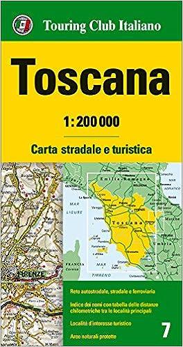 Cartina Giografica Toscana.Amazon It Toscana 1 200 000 Carta Stradale E Turistica Lingua Inglese Aa Vv Libri In Altre Lingue