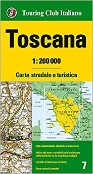 Tuscany Toscana Regional Road Map Touring Club - Map tuscany