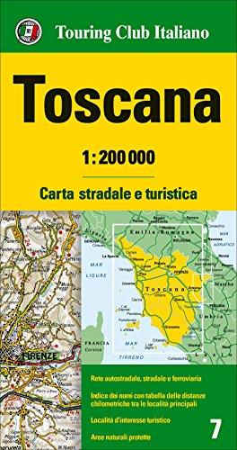 Italy Tuscany Toscano Italian - Tuscany (Toscana), Regional Road Map (1:200,000)