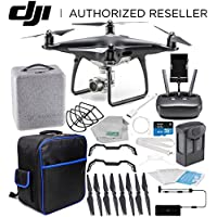 DJI Phantom 4 PRO Obsidian Edition Drone Quadcopter (Black) Starters On-The-Go Bundle