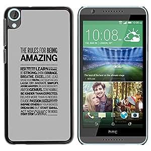 HTC Desire 820 , Radio-Star - Cáscara Funda Case Caso De Plástico (Amazing Typography)