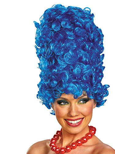 Disguise The Simpsons Marge Deluxe Glam Adult Costume Wig, Blue, One Size Adult -