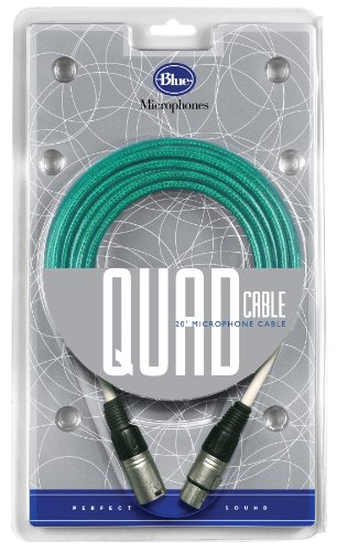(Blue Quad 20 Foot Microphone Cable)