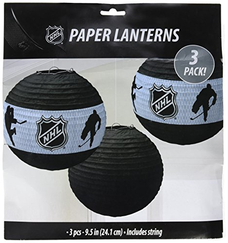 - Sports and Tailgating NHL Party NHL Ice Time! Round Paper Lanterns Decoration, , 9