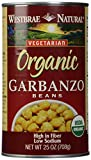 Westbrae, Organic Garbanzo Beans, 25 oz