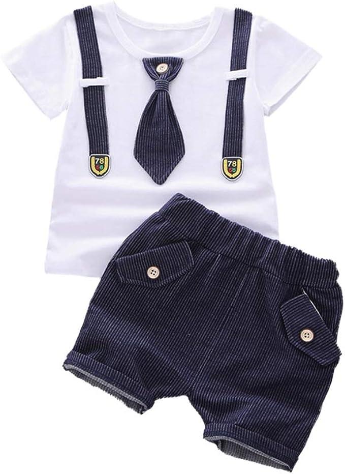 Conjunto de Ropa de Niños 2pcs Conjunto de Traje de Niños Camisa ...