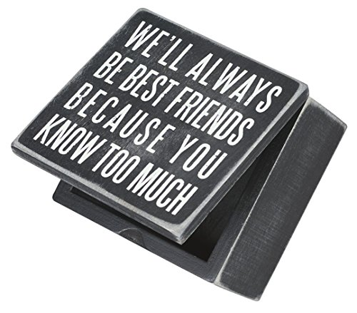 Friendship Keepsake Box - Primitives by Kathy Classic Hinged Box, 4 x 4-Inches, Best Friends